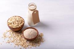 Non lait d'avoine de laiterie photo libre de droits