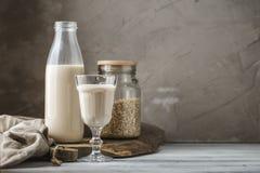 Non lait d'avoine de laiterie pour le régime de vegan images stock