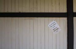 Non lasci il segno dei rifiuti, stanza per testo Immagini Stock Libere da Diritti