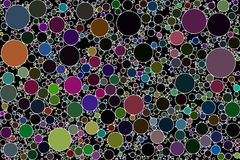 Circle packing abstract background image. Non overlapping circles. Created by algorithm, software generated abstract background royalty free illustration