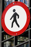 Non pedestrian access sign. Used to control traffic Royalty Free Stock Images