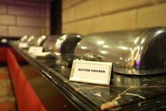 Non plaque d'identification de veg pour un dîner dans l'hôtel images stock