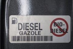 Non, pour le bio diesel Images stock