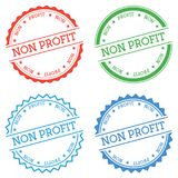 Non profit badge isolated on white background. Flat style round label with text. Circular emblem vector illustration Royalty Free Stock Photos