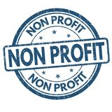 Non profit grunge rubber stamp vector illustration