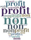 Non profit organization or business. Word cloud illustration Stock Images