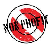 Non Profit rubber stamp Royalty Free Stock Images