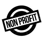 Non Profit rubber stamp Royalty Free Stock Image