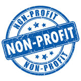Non-profit rubber stamp Royalty Free Stock Photo