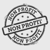Non profit rubber stamp  on white. Royalty Free Stock Photos