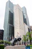Non przemoc rzeźba przy UN Zdjęcie Royalty Free