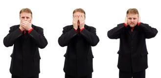 Non può comunicare, non può vedere e non può sentire Fotografia Stock