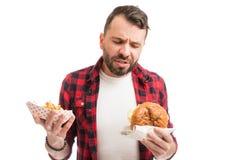 Non può Live Without Junk Food fotografie stock libere da diritti