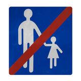 Non rapini i bambini qui Fotografia Stock