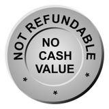 Non-refundable token. Vector of a non-refundable gaming token Stock Photos