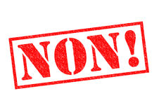 NON! Rubber Stamp. NON! red Rubber Stamp over a white background Stock Image