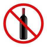 Non simbolo dell'alcool Fotografie Stock Libere da Diritti