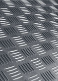 Non skid metal flooring. Industrial non-slip metal flooring detail Royalty Free Stock Photography