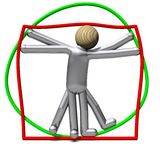 The non-slim Vitruvian Man Stock Photos
