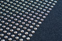 Non slip metal grips on office floor Royalty Free Stock Photography