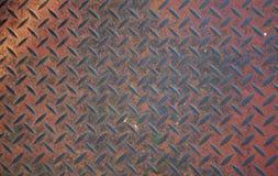 Non slittamento arrugginito resistente di piastra metallica Immagini Stock Libere da Diritti
