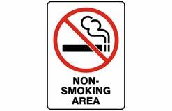 Non-Smoking het Tekenvector van het Gebiedssymbool stock illustratie