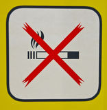 Non-Smoking sign Royalty Free Stock Photo