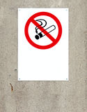 Non smoking sign. With blank area below symbol for your own text stock images