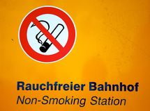 Non-smoking Station Stock Image