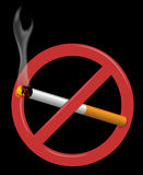 Non-smoking. Vector illustration of sign suggesting non-smoking Stock Images