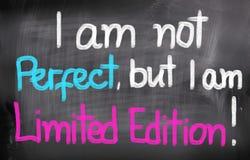 Non sono perfetto ma sono concetto dell'edizione limitata Immagine Stock Libera da Diritti