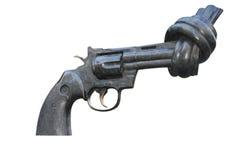 Non statua di violenza della pistola Immagini Stock Libere da Diritti