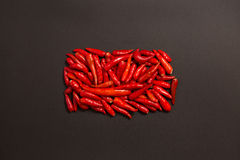 Non-stem red bird eye chili pepper Royalty Free Stock Photography