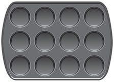Muffin top baking pan. Non-stick bakeware muffin top baking pan vector illustration