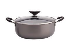 Non-stick sauce pan on white background Royalty Free Stock Photo