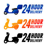 Non Stop Delivery Service With Scooter Royalty Free Stock Image