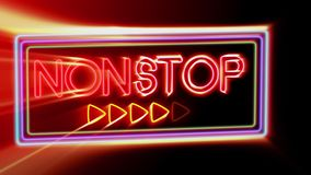 Non-stop - Flashing vibrant colorful neon board background stock footage