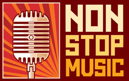 Non stop music. Poster,  design Stock Photos