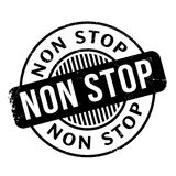 Non Stop rubber stamp. Grunge design with dust scratches. Effects can be easily removed for a clean, crisp look. Color is easily changed Royalty Free Stock Images