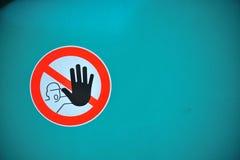 Non tocchi fotografie stock