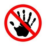 Non tocchi il segno Su un bianco illustrazione vettoriale