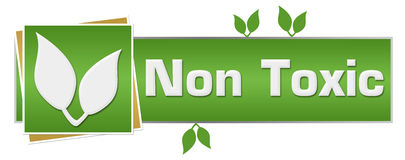 Non Toxic Green Leaves Horizontal Royalty Free Stock Image