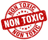 Non toxic red stamp Royalty Free Stock Photos