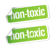 Non toxic stickers. Royalty Free Stock Photos