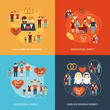 Non-traditional family icons composition Royalty Free Stock Photo