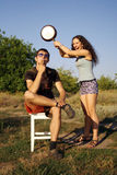 Non un buon tempo per una coppia Fotografia Stock Libera da Diritti