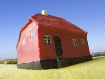 Non urban house. With a blur background Royalty Free Stock Images