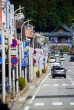 Non-urban street in Takayama. Takayama, Japan - April 4, 2008: Non-urban street in Takayama city, Japan royalty free stock photo