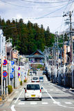 Non-urban street in Takayama. Takayama, Japan - April 4, 2008: Non-urban street in Takayama city, Japan stock photos