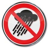 Non utilizzi questo dispositivo quando sta piovendo Fotografia Stock